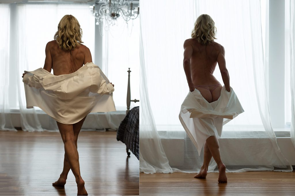 white shirt boudoir
